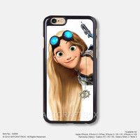 Punk Disney Princess Tangled Tattoo iPhone Case Black Hard case 806