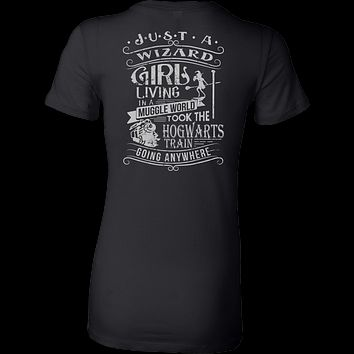 Harry Potter - JUST A WIZARD GIRL - Woman Short Sleeve T Shirt - TL01096WS