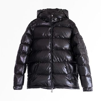 Shiny Down Coat Winter Men Down Jacket with cap Male Thick Shinning Down Snowwear Hooded Down Outerwear