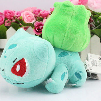 "1pcs 6""15cm Bulbasaur Plush toy figures Toys Banpresto climb Soft Stuffed Anime Cartoon Dolls kawaii kids toys"