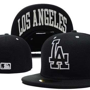 qiyif Los Angeles Dodgers New Era MLB Authentic Collection 59FIFTY Cap Black LA