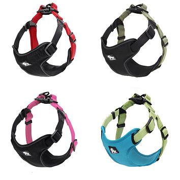Padded Reflective Dog Harness Vest Pet Safety Nylon Dog Training Vest Adjustable For Small Medium Dog S M L