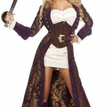 Sexy Elizabeth Swann Inspired Sea Captain Halloween Costume