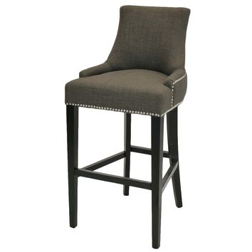Eckhard Fabric Bar Stool, Toffee