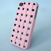 Bao Xin Design Braid Protective Case For Apple iPhone 5 5S (Not for 5C) with Heat Dissipation Function Lightweight and Cool (iPhone 5/5S Basketry, Pink)