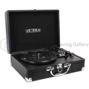 Innovative Technology VSC-550BT Victrola 3-Speed Vintage Bluetooth Suitcase Turntable (Black) - B