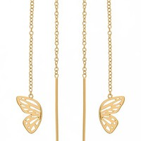 Olivia Burton Butterfly Wing Chain Thread Through Earrings | Nordstrom