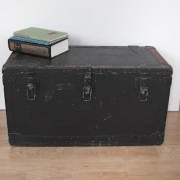 Vintage Steamer Trunk by solsticehome on Etsy