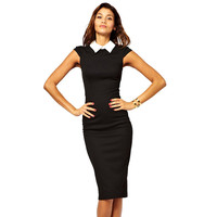 Women Dresses New Fashion 2017 Elegant Bandage Bodycon Summer Dress Patchwork Party Evening Wear To Work Dresses Knee-length