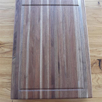 "Reclaimed wood/ cutting board/ serving tray/ black walnut /butcher block/ 2"" thick/ Free shipping"