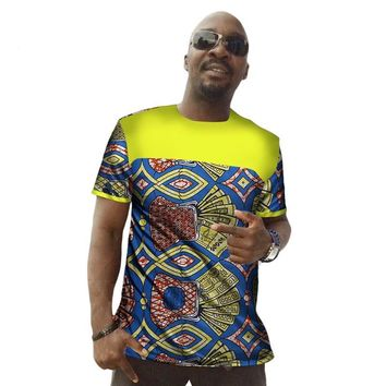 2017 Traditional African Wax Dashiki T-shirt  Short Sleeve