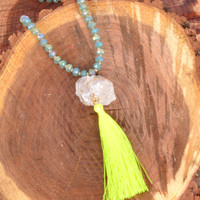 A FAITHFUL BELIEVER NECKLACE - TURQUOISE