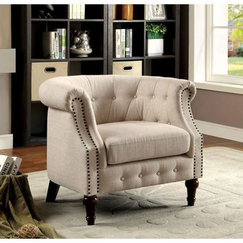 Mel Contemporary Accent Chair By Furniture Of America