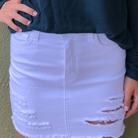 Know No Better Skirt - White