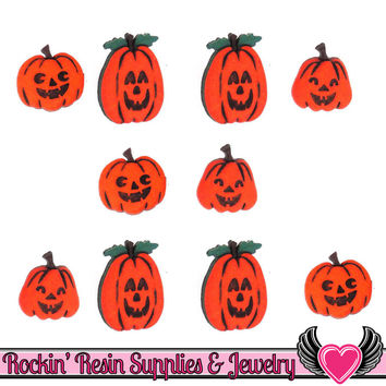 Jesse James Buttons 10pc JACK-o-LANTERNS Halloween Buttons