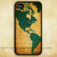 iphone 4 case, vintage world map iphone 4s case, black iphone 4 case, graphic iphone 4 case