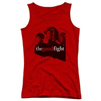 The Good Fight Juniors Tank Top Cast Red Tanktop