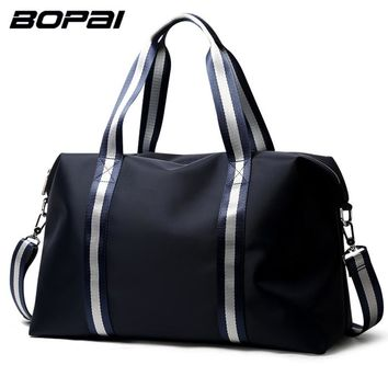 BOPAI Brand New Arrival Luggage Bags Blue Travel Bags for Men Two Using Methods Travel Tote Bag for Women Unisex Duffel Bag Big