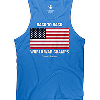 Rowdy Gentleman Back to Back Champs Tank - Royal Blue