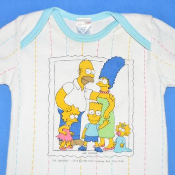 90s The Simpsons Family Portrait t-shirt Baby 18 Month