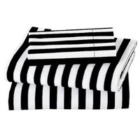 MARRIKAS 600TC BLACK STRIPE WITH WHITE SHEET SET QUEEN