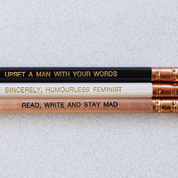 Exhausted Feminist Pencils - Set of 3