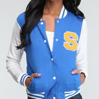 varsity jacket with patch by Southpole