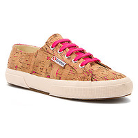 Women's | Superga 2750 Neon Cork - Pink Neon - FREE SHIPPING at Shoes.com