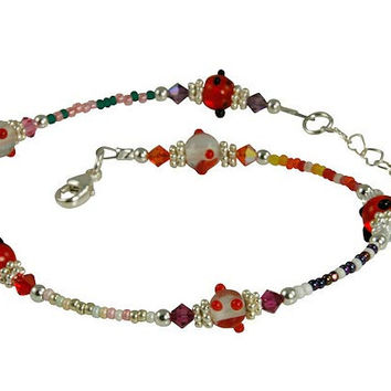 All Jazzed Up Swanky Beaded Anklet
