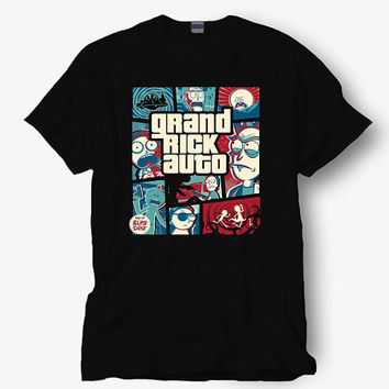 Grand rick auto shirt parody of GTA San Andreas shirt, Starbucks shirt, Hot product on USA, Funny Shirt, Colour Black White Gray Blue Red