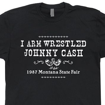 Johnny Cash T Shirt Vintage Johnny Cash T Shirt Arm Wrestling Country Outlaw T Shirt