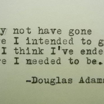 DOUGLAS ADAMS Quote Hitchhiker's Guide to the Galaxy Quote Typed on Typewriter