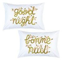 Stay Home Club — Good Night / Bonne Nuit pillow cases