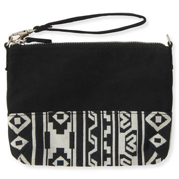 Aeropostale  Tribal Convertible Pouch - Black, One