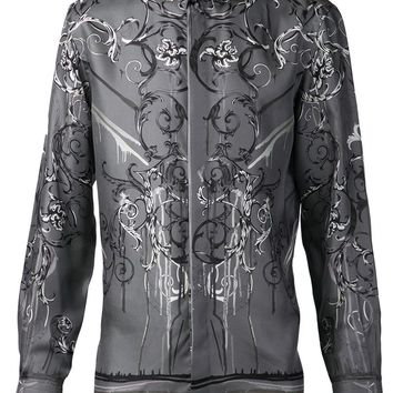 Versace Collection Dripping Medusa Print Shirt