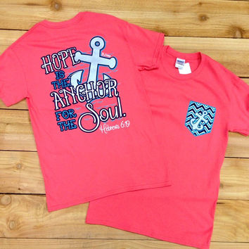 HOPE IS THE ANCHOR FOR THE SOUL IN CORAL
