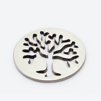 Tree Cut Out Floating Locket Plate