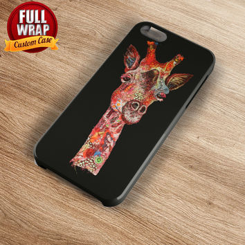 Red Giraffe Art Work Full Wrap Phone Case For iPhone, iPod, Samsung, Sony, HTC, Nexus, LG, and Blackberry