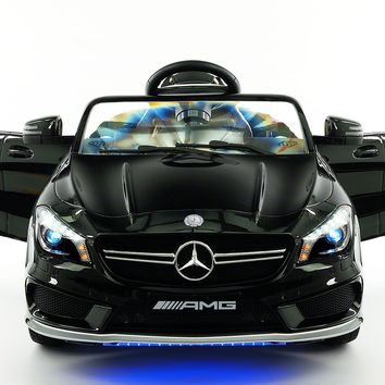 Mercedes CLA45 12V Kids Ride-On Car with R/C Parental Remote | Black Metallic