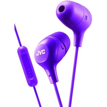 Jvc Marshmallow Inner-ear Headphones With Microphone (purple)