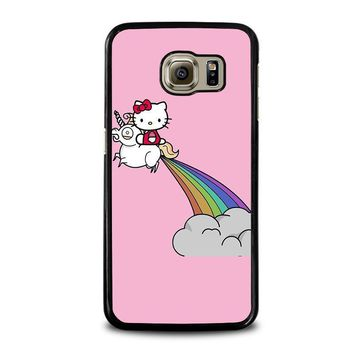 hello kitty unicorn samsung galaxy s6 case cover  number 1