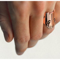 Copper Panda Ring