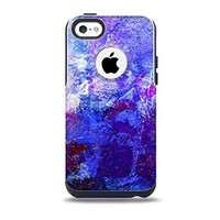 The Abstract Blue & Pink Surface Skin for the iPhone 5c OtterBox Commuter Case (Decal Only)