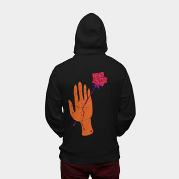 Wounded Hand Zip Hoodie By Theduckyb Design By Humans