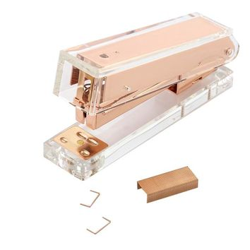 Rose Gold & Acrylic Stapler