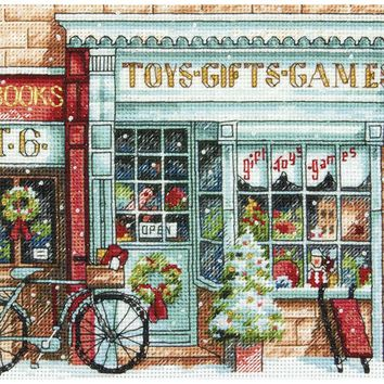 """Toy Shoppe (18 Count) Dimensions Gold Petite Counted Cross Stitch Kit 6""""X6"""""""