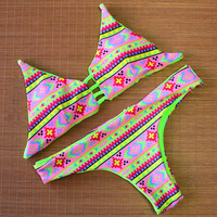 Hollow Out Summer Swimwear Beach Bathing Suit Female Swimsuit