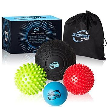 Deep Tissue Massage Ball Set for Trigger Point Therapy with Free bag and E-Book