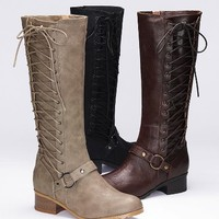Side-lace Riding Boot