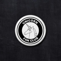 Unicorn fan club button